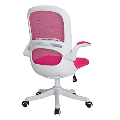 LWW Stühle, Schreibtischstuhl Bürostuhl Executive Stuhl Drehstuhl Gaming Stuhl Gepolsterte Armlehnen Mit Tiltfunktion Rollen,Rosa