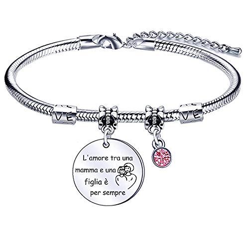 regalo festa della mamma, bracciale mamma, regalo mamma, gioielli di famiglia per donna, regalo di compleanno per madre (bracciale)