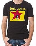 Photo de Mano Negra Manu Chao King of Bongo 1991 Album Cover T-Shirt Black XXL