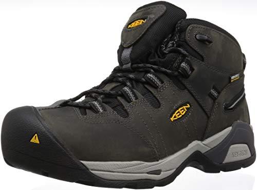 KEEN Utility Men's Detroit XT Mid Soft Toe Waterproof Work Boot,magnet/paloma,11.5 Medium US