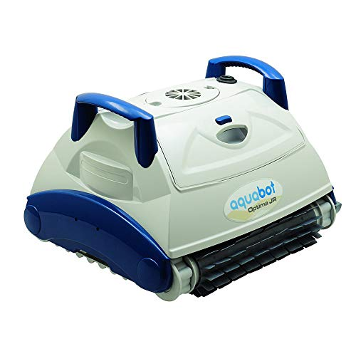 Aquabot RUFL-PEL0-OPJ00 Junior Optima Automatic Intelligent Robot Universal In Ground Swimming Pool Vacuum Cleaner with Convenient Carry Handle, White