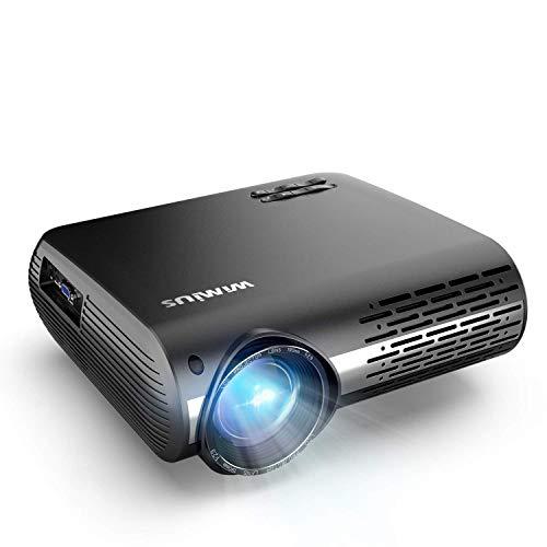 Proyector, WiMiUS 7000 Proyector Full HD 1920x1080P Nativo Soporta 4K Audio AC3 Proyector Video Ajuste Digital 4D 90,000 Horas Proyector LED para Cine en Casa y Presentación Empresarial