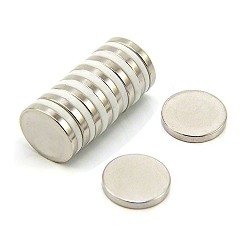 Magnet Expert 20 mm de diamètre x 3 mm d'épaisseur N35 Néodyme Aimant - 3.6 kg Pull (paquet de 10)