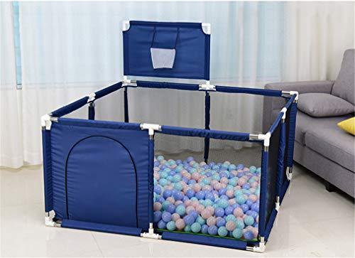 LY-JFSZ Clôture De Jeu Portable Parc Bébé Clôture De Sécurité pour Enfants Aire De Jeux Sécurisée pour Tout-Petits Tapis De Jeu Et Ballon Océan Inclus Blue