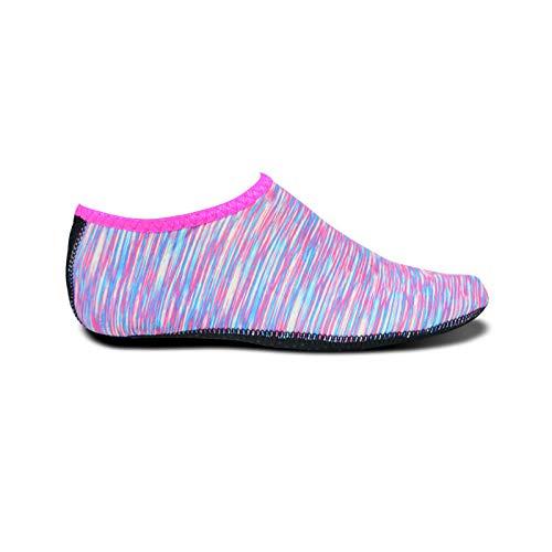 Aerlan Buceo Zapatos de Agua,Secado Rápido Zapatos,Cubrezapatos de Snorkel en la Playa natación Buceo Antideslizante Lycra-A Powder_37 / 38