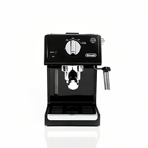 De'Longhi ECP3120 15 Bar Espresso Machine with Advanced Cappuccino System, 9.6 x 7.2 x 11.9 Inches, Black/Stainless Steel