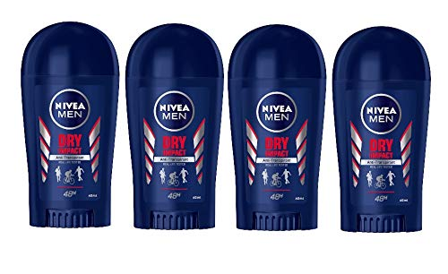 Nivea Men Dry Impact 48h Deodorant Protection Stick Anti-perspirant protection 40 ml (Pack of 4)