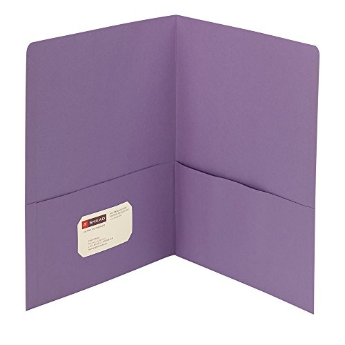 Smead Two-Pocket Heavyweight Folder, Letter Size, Lavender, 25 per Box (87865)