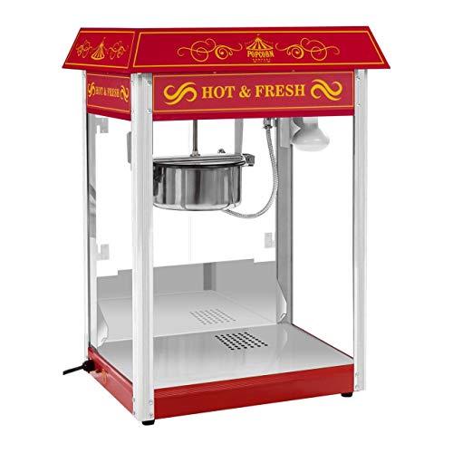 Royal Catering RCPS-16.3 Popcornmaschine Popcorn Maker Popcorn Bereiter Retro Vintage Design Rot