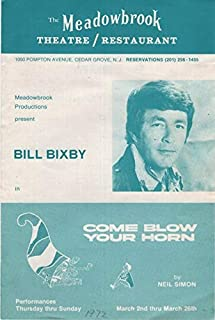 Meadowbrook Productions Present Bill Bixby in Come Blow Your Horn, March 2-26, 1972 (Program with Flyer)