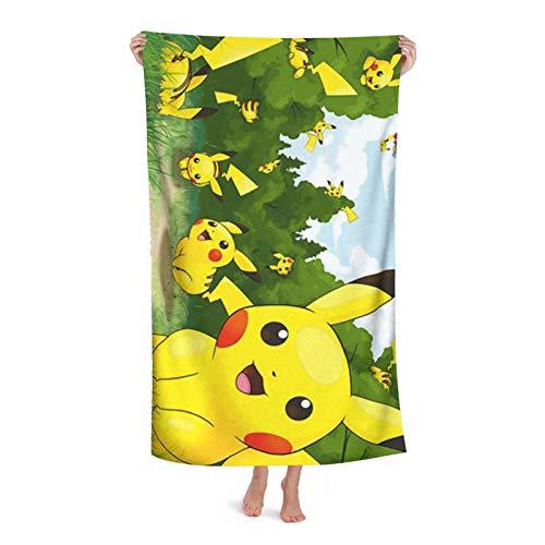 Toallas de playa de microfibra ultraligeras de Pokémon, toallas de baño, toallas de baño, natación absorbentes, camping, fitness, colchonetas de yoga, mantas toalla de baño