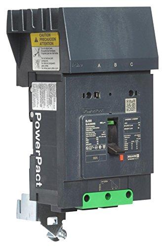 BDA36080-Thermal Magnetic Circuit Breaker, MCCB, PowerPact B-Frame Series, 240 V, 80 A, 3 Pole