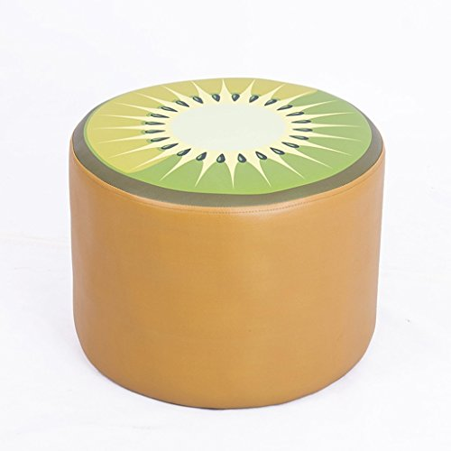 Dessin animé fruits enfant tabouret en cuir souple tabouret bébé apprentissage tabouret 40 * 40 * 30cm (Color : Brown)