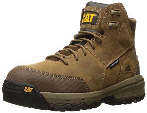Caterpillar Men's Device Comp Toe Waterproof Work Boot, Dark Beige, 11.5 M US