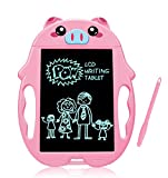 LG&S Cartoon LCD Writing Tablet, Pig Rabbit Appearance Drawing Board Portable Doodle Pad Electronic Writing Board Handwriting Notebook Girls Toy Gift,Pink,pig