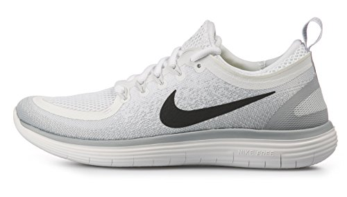 Nike Men's Free RN Distance 2, White/Black-Pure Platinum, 15M