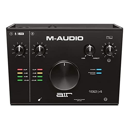 M-Audio Air 192|4 - Interface de áudio USB 2 entradas/2 saídas com software de gravação da ProTools & Ableton Live, Plus Instrumentos virtuais e FX de grau de estúdio