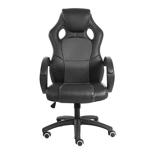 Der Game Chair und der Footstool Office Chair können mit dem hochbelastbaren, verstellbaren Recliner Headrest Waist Support Pad Computer Schreibtisch und Stuhl kombiniert Werden-grau