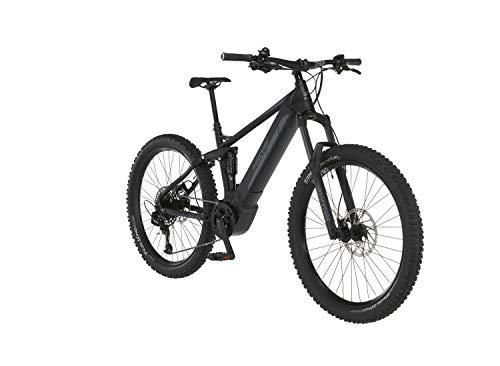FISCHER E-Mountainbike MONTIS 6.0i Fully, E-Bike MTB, schwarz matt, 27,5 Zoll, RH 44 cm, Brose Drive S Mittelmotor 90 Nm, 36 V Akku im Rahmen