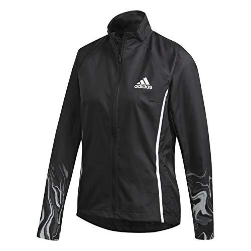 adidas womens Glam On Jacket Black/Reflective Silver X-Large