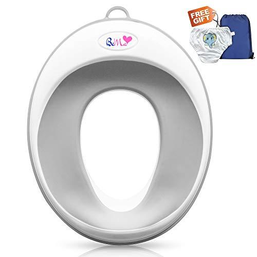 Bema Wc Brilverkleiner voor Kinderen - Wc verkleine Toiletverkleiner Potje voor kinderen Kindertoilet - Antislip Eenvoudige Installatie Klikt Gemakkelijk Vast Universeel - Veilige Materialen,36x29 cm