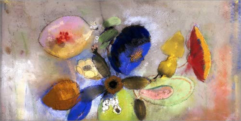 Posterlounge Leinwandbild 160 x 80 cm  Blaumen von Odilon roton Bridgeman Images - fertiges Wandbild, Bild auf Keilrahmen, Fertigbild auf echter Leinwand, Leinwanddruck