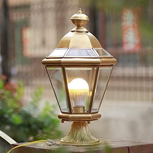 Lámpara de pilar al aire libre impermeable jardín decorativo lámpara de pared de cobre europeo de montaje al aire libre lámpara montada luces de pared accesorios de iluminación de la pared Crear for c