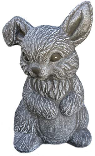 Steinfiguren Spicker Steinfigur Hase Zwergkaninchen sitzend 170/1 Gartenfigur Steinguss Tierfigur Basaltgrau