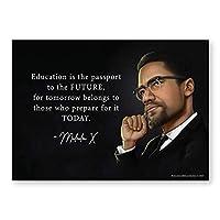 Malcolm X ポスター ブラック ヒストリーポスター 13x18インチ 非ラミネート加工 社会的正義 市民権利ポスター 1枚入り
