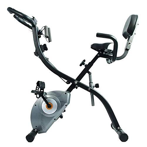 CHENYE Bicicleta estacionaria, Bicicleta estática, reclinada Plegable Bicicleta en posición Vertical Interior Bici de Ciclo de transmisión del cinturón con un Gran Monitor LCD, Uso del hogar