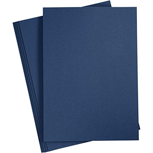 Bastelpapier Blau, 20 Blätter, Royalblau DIN A4 210x297 mm, 110 g. Tonpapier zum Basteln und Gestalten