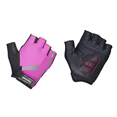 GripGrab ProGel - Guantes para Bicicleta de Carreras (Acolchado de Gel, Ayuda para Quitar), Primavera/Verano, Unisex Adulto, Color Pink Hi-Vis, tamaño XX-Large