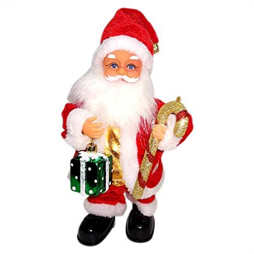 Twocc-Weihnachten, Elektrische Weihnachtsgeschenkbox Santa Claus Decoration Music Crutches