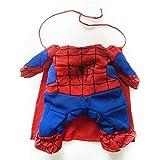 GGDJFN Ropa para Perros Spiderman Disfraces de Gatos con Capas Vestir Mascotas Tricky Spider Superman, Ropa para Perros Mascotas Cachorro Mono para Mascotas Superman (Size : 29-35cm H32cm)
