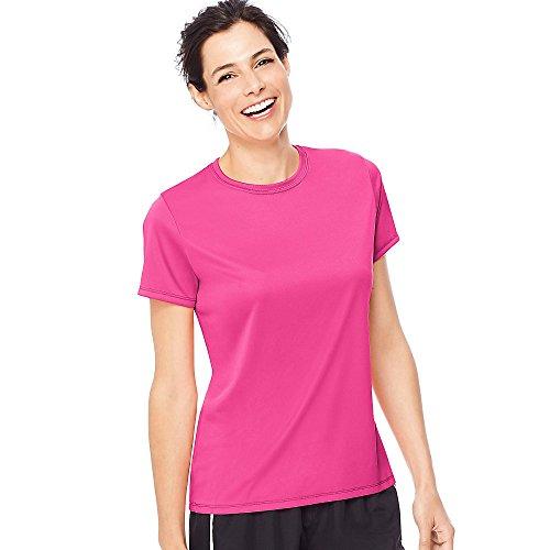 Hanes Camiseta feminina Cool Dri, Rosa (uau), 3XL