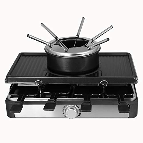 3in1 Raclette- Grill- und Fondue, Emerio Raclette RG 124930
