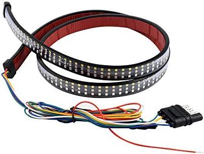LED Tailgate Light Dual Colors Tail Light Strip Red Brake White Reverse Lights Parking Turn product image