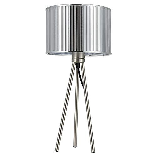 [Lux.pro] Lámpara de mesa moderna (E14) - diseño trípode - plateada