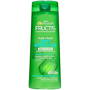 Garnier Fructis Champú Pure Fresh Menta Refrescante - 360 ml - [pack de 3]: Amazon.es: Belleza