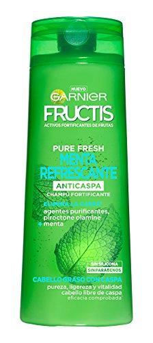 Garnier Fructis Champú Pure Fresh Menta Refrescante - 360 ml - [pack de 3]