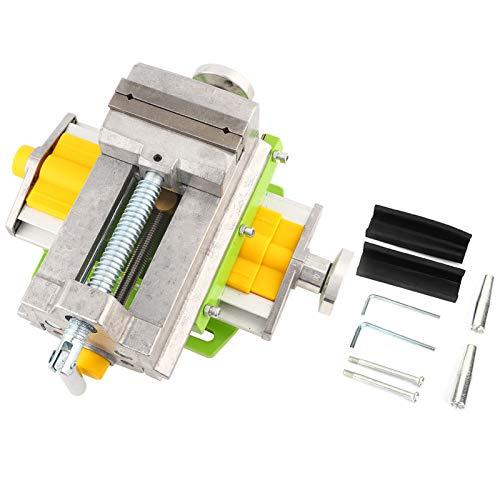 Prensa taladradora de deslizamiento cruzado de 3'Vise Pinzas planas de fresado de metal Abrazadera de banco X-Y de 2 vías