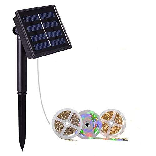 Tira de luz flexible llevada solar al aire libre, tira ligera llevada, 3-16 pies de largo opcional, tira de luz de la decoración de la pared del patio al aire libre