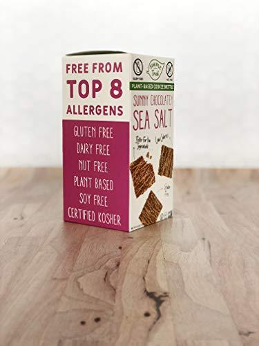 Simple Treat: Plant Based, Gluten Free, Dairy Free, Vegan Sunny Chocolatey Sea Salt Cookie Brittle. Made with Oat Milk. 6 OZ