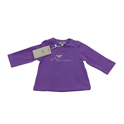 Armani bébé fille Violet col rond F/S T-shirt/Top 100% authentique Luxe 3 m/56 cm