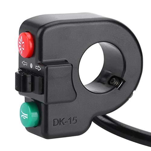 Interruptor de luz de bocina, Interruptor de Scooter, botón de Interruptor de Giro de bocina de luz 3 en 1 para Bicicleta de montaña, Scooter eléctrico DK-15