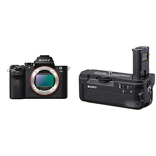 Sony Alpha 7 II E-mount interchangeable lens mirrorless camera with full frame sensor with Sony VGC2EM Vertical Grip (Black)