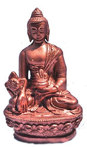 mytibetshop Buddha Statue, Medicine Buddha Statue,Healing Buddha Statue, Buddha Statue for Home, Small Buddha Statue, Handcrafted by Himalayan Artisan in Nepal