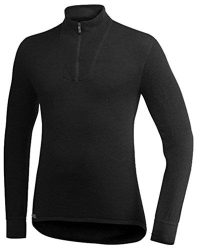 Woolpower 400 Turtleneck Long Sleeve Zipp Shirt Men - Thermounterwäsche, Schwarz, M