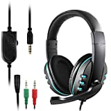 3.5mm Gaming Headset, DaKuan Over Ear Noise Isolating Headphone with Mic and Volume