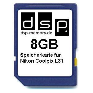 DSP Memory Z-4051557437081 8GB Speicherkarte für Nikon Coolpix L31